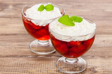 Strawberry jelly dessert