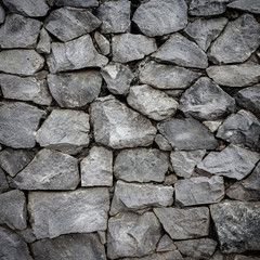 Stone wall background, pattern gray color of modern style