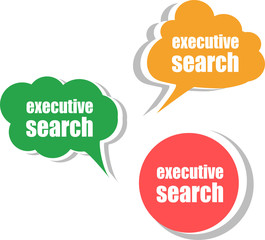 executive search. Set of stickers, labels, tags. Business