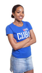Young woman from Cuba with crossed arms