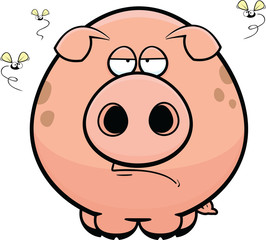 Cartoon Pig Grumpy