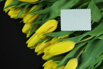 tulipany z karteczką