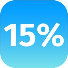 15 percent icon