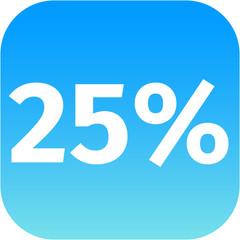 25 percent icon