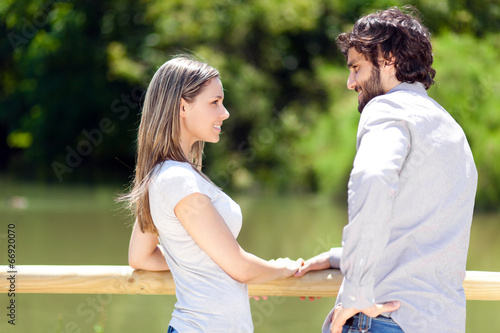 Young couple at the park