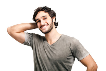 Handsome young man portrait in casual cloths