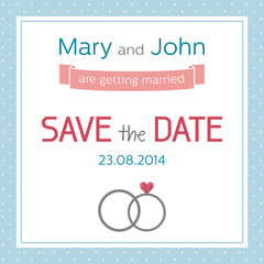 Wedding invitation, Save the date