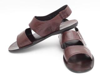 brown flip-flops