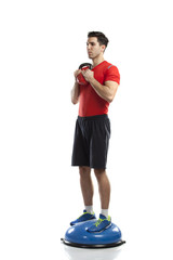 Series of kettlebell weight exercise sequence to promote strengt