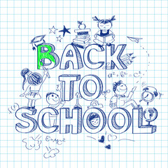 Back to school sketch background