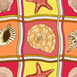 Marine patchwork seamless pattern