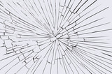Broken windshield glass - 66922689