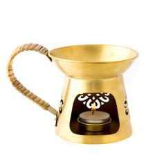 Aromatherapy burner isolated on white background