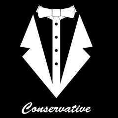 conservative vector background