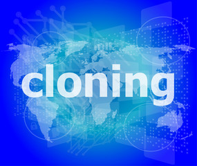 cloning word, backgrounds touch screen with transparent buttons