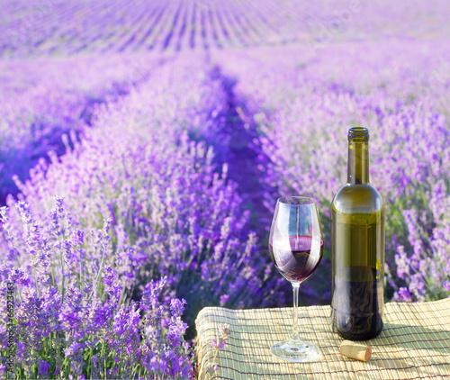 Fotobehang Picknick Bottle of wine.