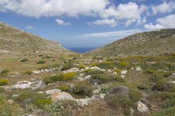 Landschaft im Norden von Karpathos, Griechenland