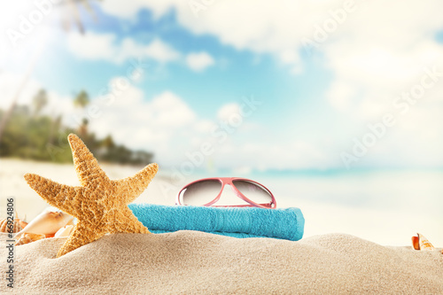 canvas print picture Summer beach background