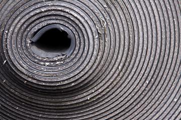 exzentrische Kreise einer Materialrolle