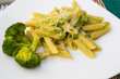 Pasta with broccoli, olive oil and parmesan