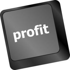 profit button on keyboard keys - business concept