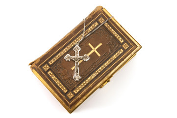 Ornate Cross on a Bible