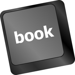 Book button on keyboard keys - business concept