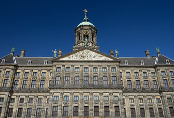 Royal Palace at the Dam Square, Amsterdam.