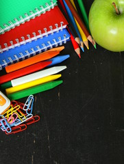 Back to school concept, school stationery