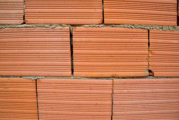 Red clay bricks - background