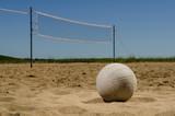 Fototapeta Sunny beach volleyball court