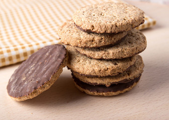 cookies with wooden background