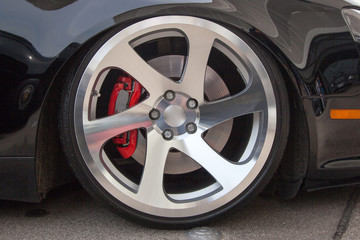Sport car light alloy wheels