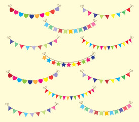 vector bunting background