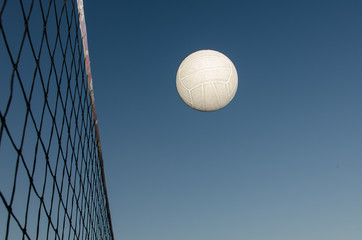 Volleyball in the air