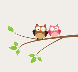 vector cute owls