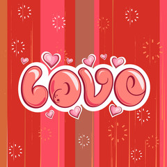 Love Typography Background. Vector