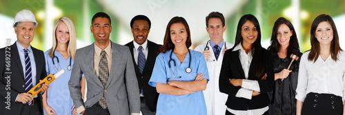 Leinwanddruck Bild Team of Workers