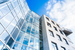 Leinwandbild Motiv Glasfassade eine modernen Gebäudes