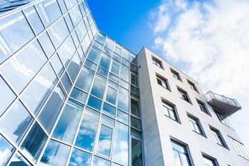 Glasfassade eine modernen Gebäudes
