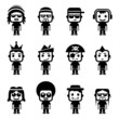 Set of avatar characters. Vector