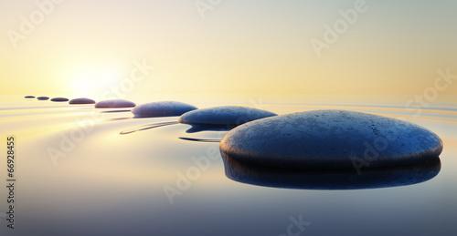 Steine im Wasser 2 - 66928455