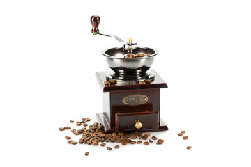Coffee grinder isolated on a white background