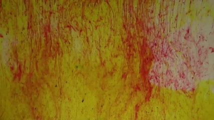 red yellow dye in water
