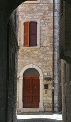 Ascoli Piceno, Marches, Italy - Old typical street