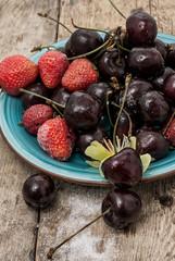 cherry and strawberry,
