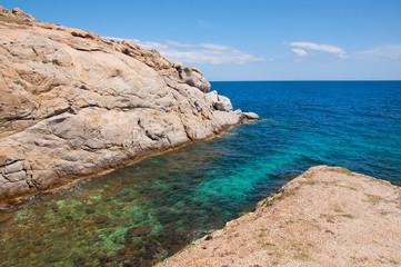 Kalafatis beach in Mykonos city