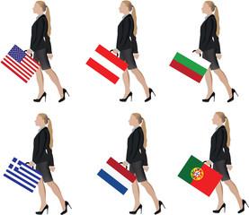 ragazza porta bandiera