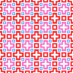 Abstract vivid seamless pattern (tiling). Vector illustration