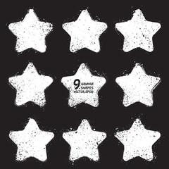 Grunge vector stars